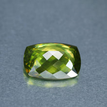 5 ct. Green Sphene, No Heat or Treatment, VVS Clarity, Excellent Cushion Cut