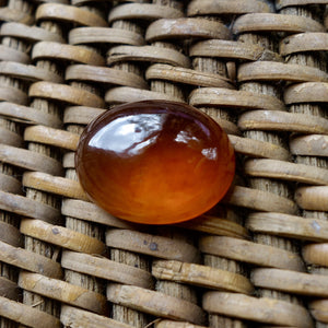 21.74 Large Rare Honey Color Hessonite Garnet Cabochon