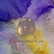 9.16 Carat Chalcedony Cabochon with Ghost Light Cut by Master Cutter