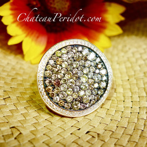 Chateau Peridot multi-color diamond ring