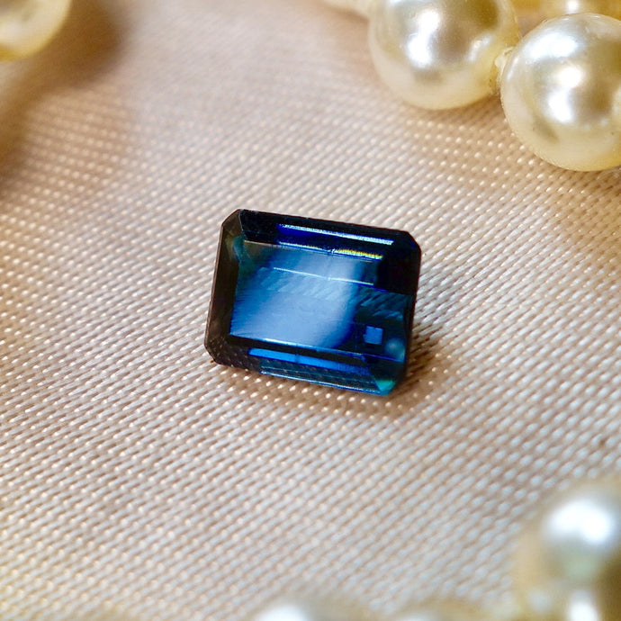 Tourmaline, 1.65 ct.  Rare Vivid Blue, No treatment, VVS, Master American Cut