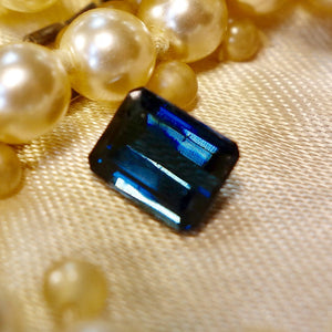 Rare Vivid Blue Tourmaline, 1.65 ct, No treatment VVS Master American Cut