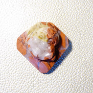 Buddha Head Hand Carved from Red River Jasper, Drilled 148.5 carats