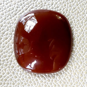 Agate Cabochon, 106 ct. Red, Rounded Rectangular, Victorian Favorite