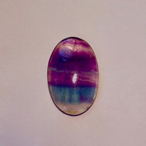 Fluorite Oval Cabochon, Gorgeous Transparent Gem