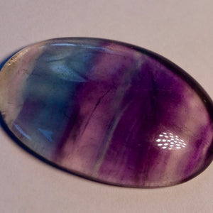 Fluorite 27.50 ct. Oval Cabochon, Gorgeous Transparent Gem
