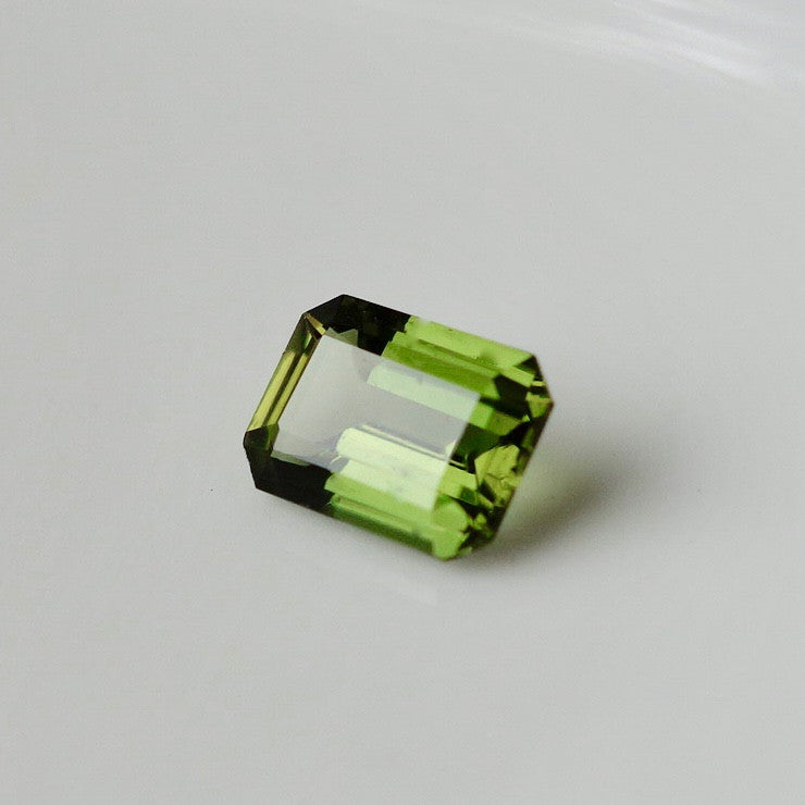 Green Zircon, Emerald Cut, Rarest Color of Zircon