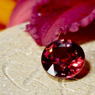 6.61 ct, Rare, Red Zircon , No Heat, Tanzania, Round, VVS