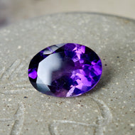 5.67 ct Amethyst, Oval Cut, Bright Deep Purple, No Heat, Uruguay