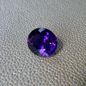 22.50 carat Amethyst Deep Byzantine FLAWLESS Perfect Purple