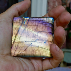 Spectralite Labradorite AAA Quality, Rarest Color's (purple, astral blue) In one Huge Tile