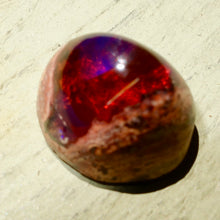 9.50 Carat Fantastic, Dominant Red, Mexican Matrix Opal, Multicolor, Cantera, Lost World Look