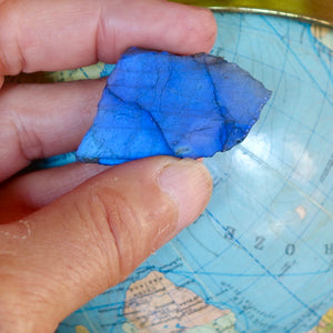 Finest quality electric blue labradorite omnidirectional spectrum.