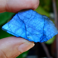 This is the rarest omni directional labradorite in vivid electric blue.