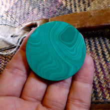 Malachite Cabochon, 210.90 Ct. Large, Round, Very Nice with Excellent Polish