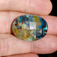 Azurite, 26 ct. Oval Checkerboard Cut