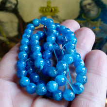 Blue Apatite Bead Strand, Untreated, Brazilian Mined, Exceptional Strand