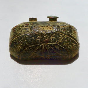 Ancient Roman Bronze Artifact, Lid to Ancient Box Dating to 200 AD