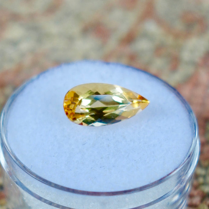 Imperial Topaz, 2.56 ct. Pear Shape, Top Color