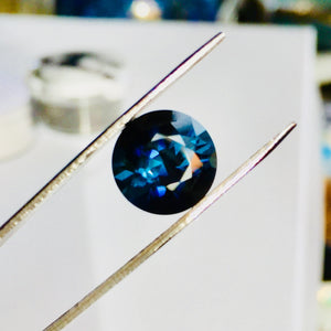 Tourmaline, 3.995 Ct. Sapphire Blue, Flawless, Round Master Cut, Namibia