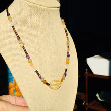 SOLD Gorgeous Bead and Gemstone Necklace, Vintage 1970's