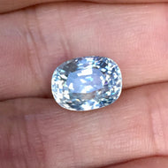 Large, 10.35 ct White Zircon, VVS, Cushion Cut, Tanzania