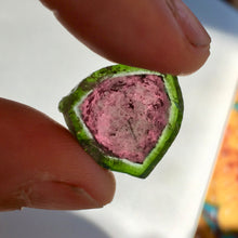 Watermelon Tourmaline Slice, Gem Rough