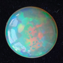 Ethiopian Welo Opal, 15.65 ct. Round Cab, High Dome, Flagstone Pattern
