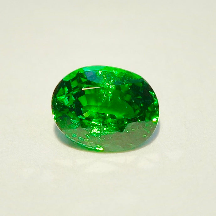 SOLD 1.02ct. Tsavorite Garnet, Electric Green, Kenya VVS
