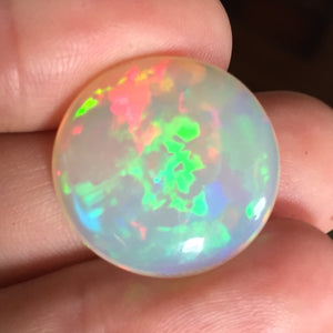 15.65 ct. Ethiopian Welo Opal, Round Cab, High Dome, Flagstone Pattern