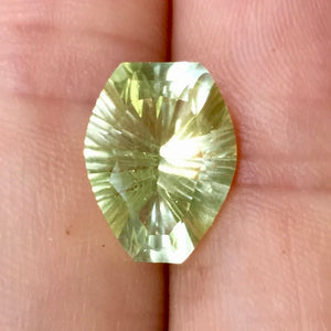 Natural rare yellow topaz from old mine in Germany.