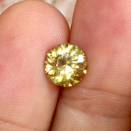 4.85 Yellow Zircon, VVS, Untreated, Round, Sri Lanka