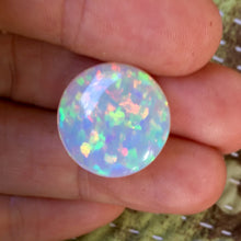 15.65 ct. Crystal Opal, Round Cab, High Dome, Flagstone Pattern