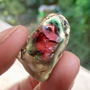 SOLD Watermelon Oregon Sunstone Rough VERY RARE!