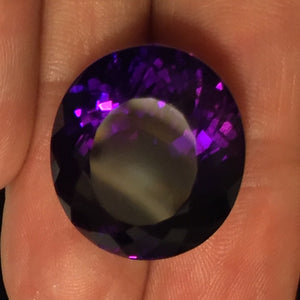 26.74 ct. Siberian Amethyst, Super Dark, Blue and Magenta Flashes, Russia