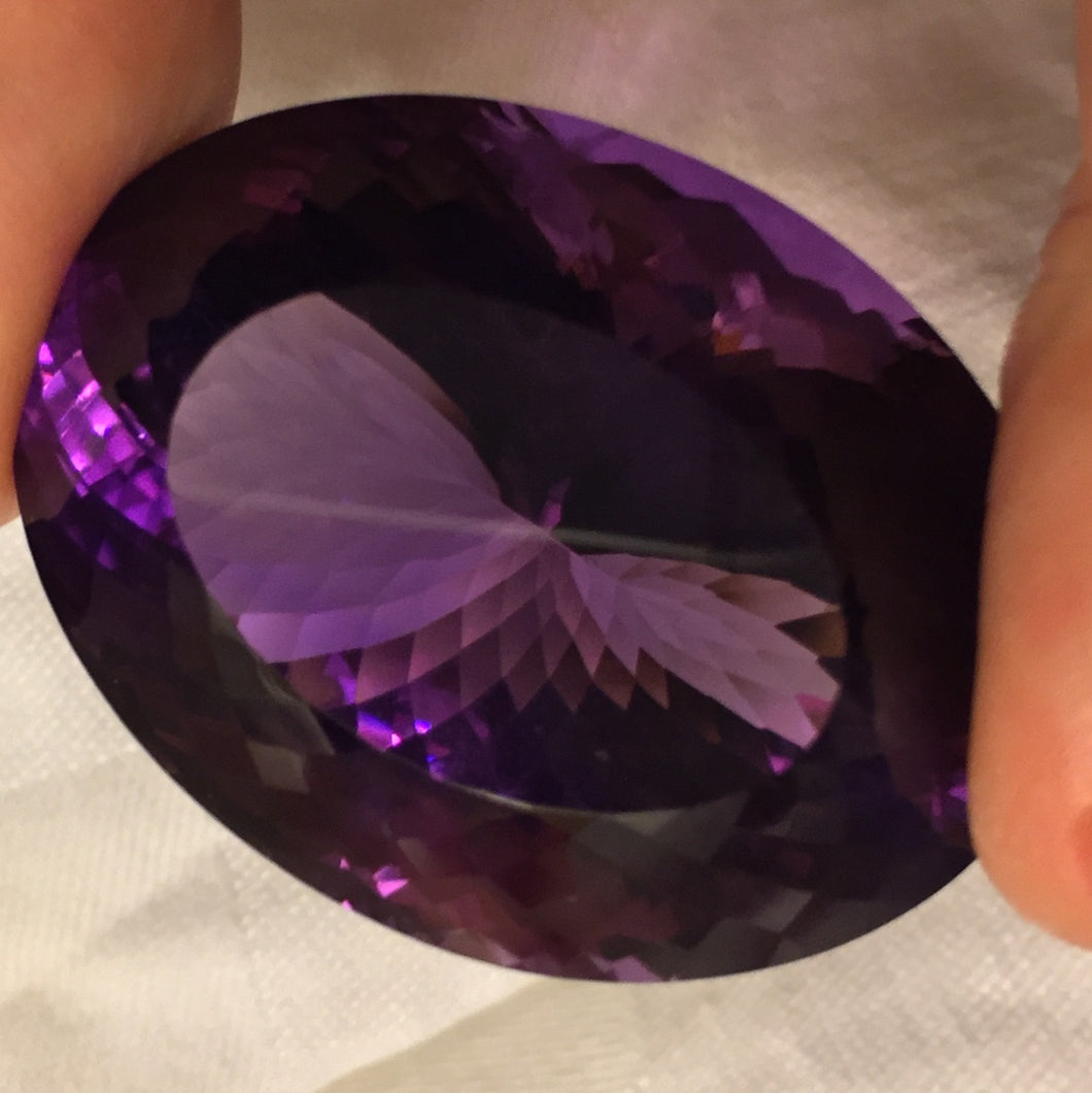 162.00 ct. Amethyst, Oval, Bolivia, Flawless, Collector Size Gem
