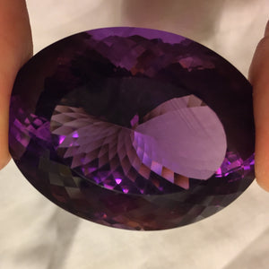 Amethyst, 162.00 ct. Oval Cut, Bolivia, Flawless, Collector Size Gem
