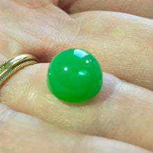 Marlborough Green Chalcedony Cabochon, 4.94 ct. Master cut