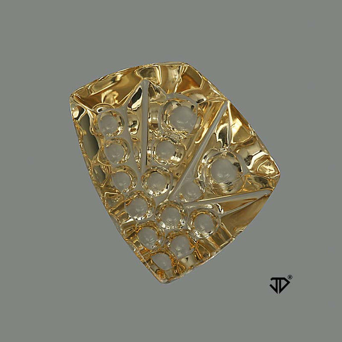 13.78 Ct. Golden Yellow Beryl, Brazil, Freeform, Cut by John Dyer
