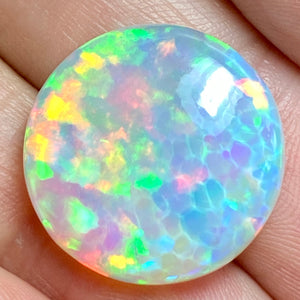 BRIGHTEST GIA LIGHT Ethiopian Welo Opal, 14.15 ct. Full Fire, All Colors, 5/5 Rating Top Quality