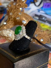 MAKE OFFER Imperial Jadeite Ring, Top Color Imperial Green 4.0 ct. Burma, Diamonds VVS-D to E,  2.75 to 3.0 ctw. Platinum, 1960's