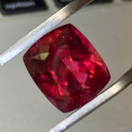 SOLD 11.10 Carat Rubellite Tourmaline, Mozambique, Cushion Cut, Red
