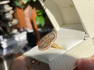 Diamond Ring, 2.52 Ct. Multicolored, 14k Size 7.25
