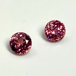 1.26 tcw. Matched Pair, Imperial Pink Garnets, VVS, No Treatment, Tanzania