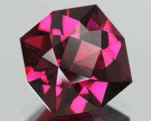 5.23 ct. Pyralspite. Malaya Garnet, Purplish Pink, Octagon Master-Cut In United States.