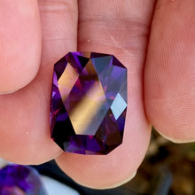 9.21 ct. Amethyst, Siberian, Flawless, Modified Emerald Cut, Deep Purple, TOP GEM