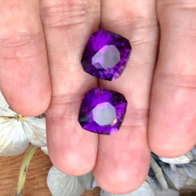 matched pair amethysts, Uruguay precision cut