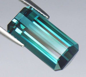 Indicolite Tourmaline, 7.16 ct. Blue, VVS1 Clarity, Afghanistan, Step-Emerald, Precision Cut