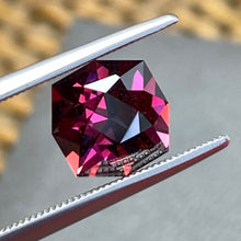 Pyralspite Garnet, 5.23 ct. Color Change Magenta to  Purplish Pink, Octagon Master-Cut In U.S., East Africa,