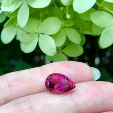 gorgeous rubellite pear shape Pigeon's blood red, top clarity, untreated.